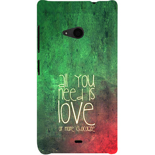ifasho Love Quotes for love and chocolate Back Case Cover for Nokia Lumia 535