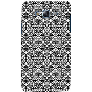 ifasho Animated Pattern design black and white flower in royal style Back Case Cover for Samsung Galaxy J5