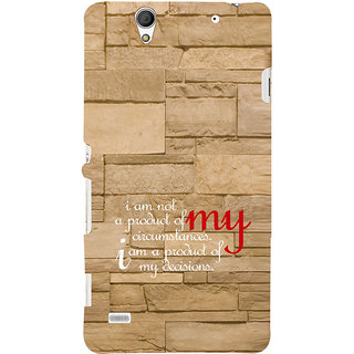 ifasho Kowledge quotes on stone pattern  Back Case Cover for Sony Xperia C4