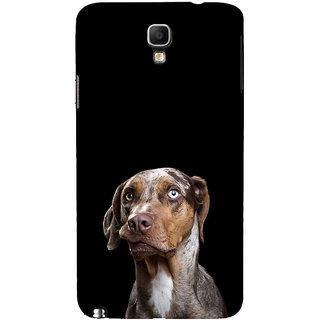 ifasho black Dog Back Case Cover for Samsung Galaxy Note3 Neo