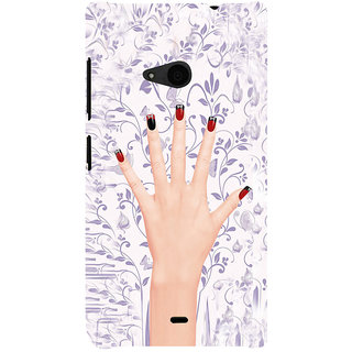 ifasho girl finger with nail polish design Back Case Cover for Nokia Lumia 535
