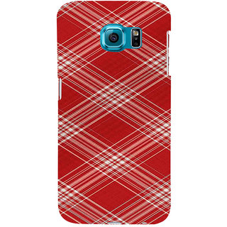 ifasho Design lines pattern Back Case Cover for Samsung Galaxy S6 Edge Plus