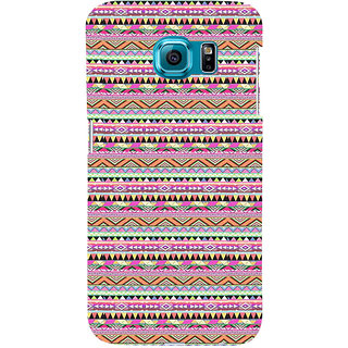 ifasho 3Diangular Pattern Back Case Cover for Samsung Galaxy S6 Edge Plus