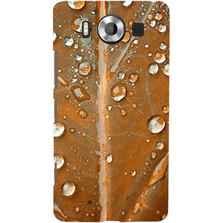 ifasho water Drop on brown leaf Back Case Cover for Nokia Lumia 950