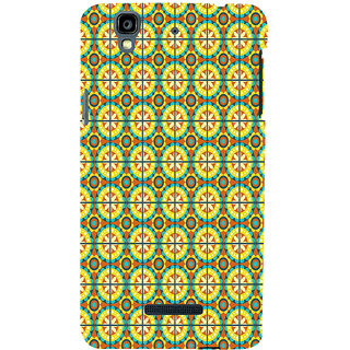 ifasho Animated Pattern design colorful flower in royal style with lines Back Case Cover for YU Yurekha
