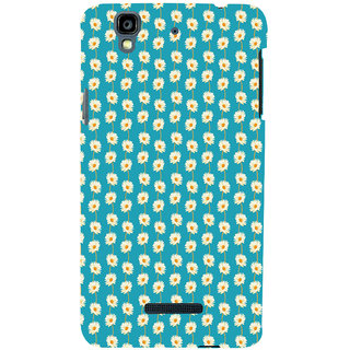 ifasho Pattern white flower design Back Case Cover for YU Yurekha