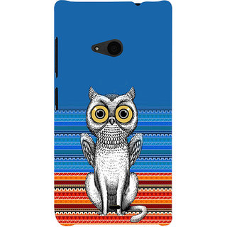 ifasho ModernBird and Owl Pattern Back Case Cover for Nokia Lumia 535
