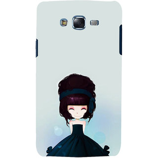 ifasho Cute Girl with Ribbon in Hair Back Case Cover for Samsung Galaxy J7 (2016)