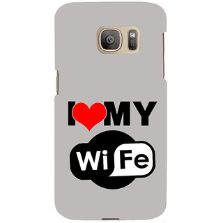 ifasho I love my wife quotes Back Case Cover for Samsung Galaxy S7 Edge