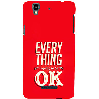 ifasho everything will be ok quotes Back Case Cover for YU Yurekha