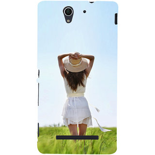 ifasho Girl waiting Back Case Cover for Sony Xperia C3 Dual