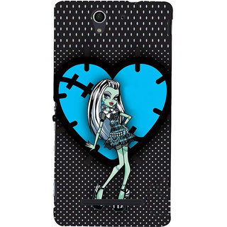 ifasho Crazy Girl Back Case Cover for Sony Xperia C3 Dual