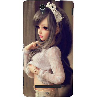 ifasho Winking Girl with Muflor Back Case Cover for Sony Xperia C3 Dual