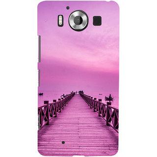 ifasho walking wooden bridge on a sea Back Case Cover for Nokia Lumia 950