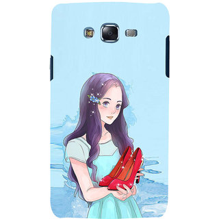 ifasho Girl with sandle in hand Back Case Cover for Samsung Galaxy J7 (2016)