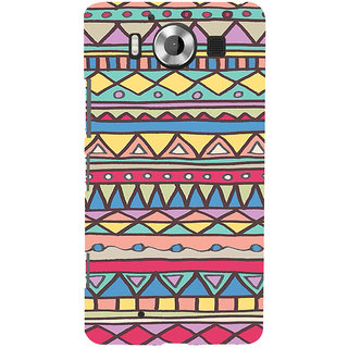 ifasho Animated Pattern colrful 3Dibal design Back Case Cover for Nokia Lumia 950