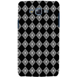 ifasho Modern Theme of royal design in black and white pattern Back Case Cover for Samsung Galaxy J5