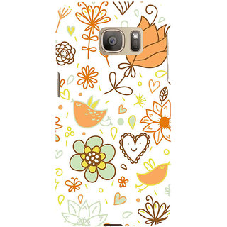 ifasho Animated Pattern colrful design cartoon flower with leaves Back Case Cover for Samsung Galaxy S7 Edge
