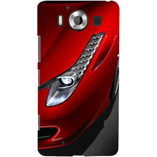 ifasho Red Royal colour Car Back Case Cover for Nokia Lumia 950