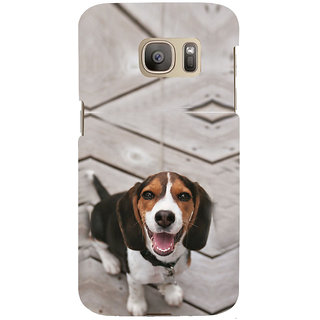 ifasho Grey Dog Back Case Cover for Samsung Galaxy S7 Edge