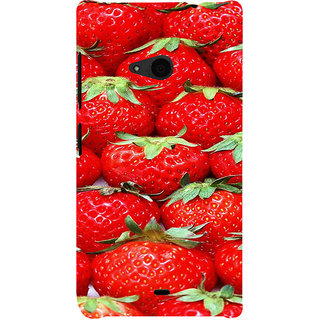 ifasho Modern  Design Pattern S3Dwberry wall paper Back Case Cover for Nokia Lumia 535