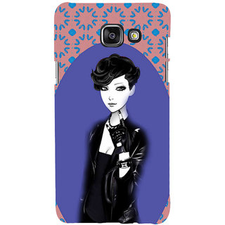 ifasho Girl in Black Jacket Back Case Cover for Samsung Galaxy A5 A510 (2016 Edition)