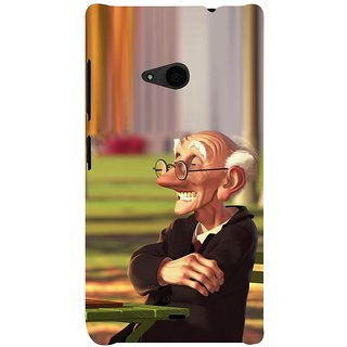 ifasho Old man playing chess animated design Back Case Cover for Nokia Lumia 535