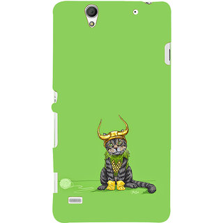 ifasho Animated Design cat with crown Back Case Cover for Sony Xperia C4