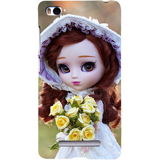 ifasho Girl with flower in hand Back Case Cover for Redmi Mi4i
