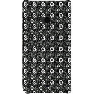 ifasho Animated Pattern design black and white flower in royal style Back Case Cover for Nokia Lumia 535