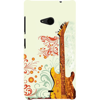 ifasho Modern Art Design Pattern Music Ins3Dument Guitar Back Case Cover for Nokia Lumia 535