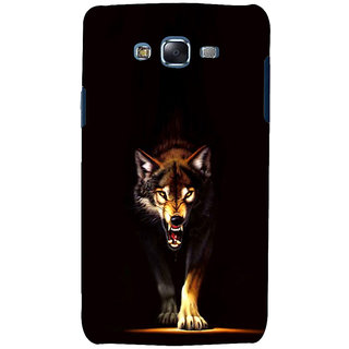 ifasho Angry Wolf Back Case Cover for Samsung Galaxy J5