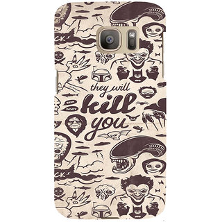 ifasho Animated Pattern horror skeleton and daring Back Case Cover for Samsung Galaxy S7 Edge