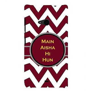 ifasho Main Aisha hi hun in quote in arrows Back Case Cover for Nokia Lumia 535