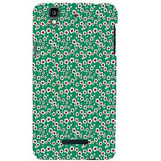 ifasho Pattern green white and red animated flower design Back Case Cover for YU Yurekha