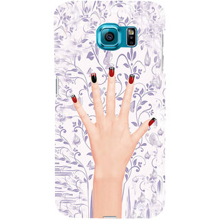 ifasho girl finger with nail polish design Back Case Cover for Samsung Galaxy S6 Edge Plus