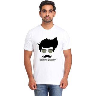 Snoby NO SHAVE NOVEMBER white Printed T-shirt