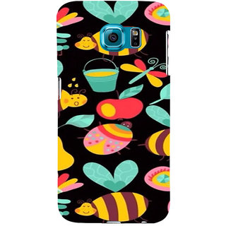 ifasho Animated Pattern colrful flower and butterfly Back Case Cover for Samsung Galaxy S6 Edge Plus