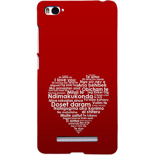 ifasho Love Quotes I love you Back Case Cover for Redmi Mi4i