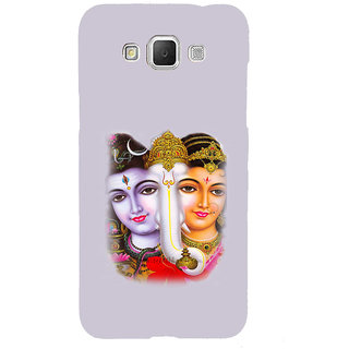 ifasho Siva Parvati and ganesh Back Case Cover for Samsung Galaxy Grand Max