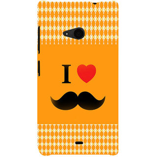 ifasho I love Moustache Back Case Cover for Nokia Lumia 535