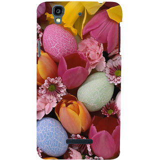 ifasho Bunch of Diffrent Flower Back Case Cover for YU Yurekha