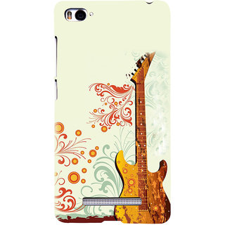 ifasho Modern Art Design Pattern Music Ins3Dument Guitar Back Case Cover for Redmi Mi4i