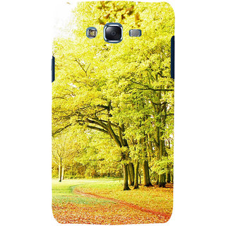ifasho Green 3Dees with red leaves on the road Back Case Cover for Samsung Galaxy J5