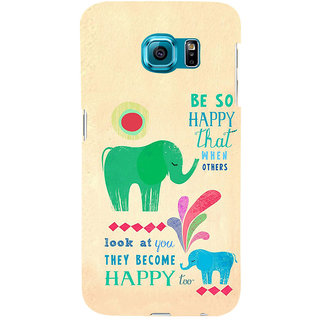 ifasho life Quotes on happiness Back Case Cover for Samsung Galaxy S6 Edge Plus