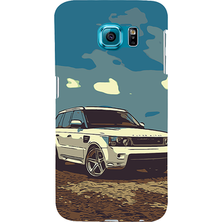 ifasho Vintage white Car Back Case Cover for Samsung Galaxy S6 Edge Plus