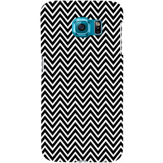 ifasho Animated Pattern of Chevron Arrows Back Case Cover for Samsung Galaxy S6