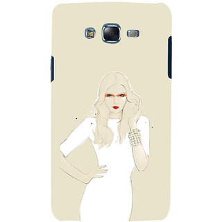 ifasho modern Girl in white dress painting Back Case Cover for Samsung Galaxy J7 (2016)