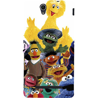 ifasho Cartoon Soft face many cartoons characters Back Case Cover for Sony Xperia C3 Dual