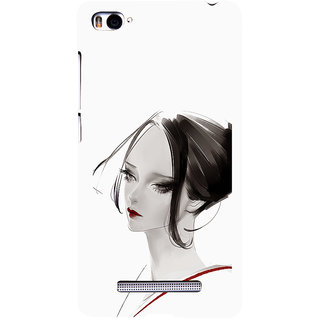 ifasho Chinese Girl Back Case Cover for Redmi Mi4i